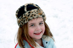 Happiness Outside In The Snow Stock Images