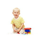 Happiness paint boy Royalty Free Stock Photo