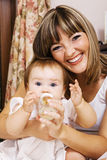 Happiness of parenthood Stock Photography