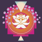 Happiness and prosperity spring flower yantra Stock Image