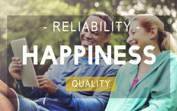 Happiness Reliability Quality Life Living Concept Stock Images