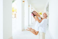 Happiness and romantic Scene of love couple Royalty Free Stock Photo