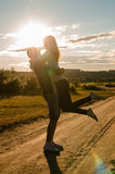 Happiness and romantic Scene Royalty Free Stock Images