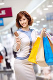 Happiness in shopping Royalty Free Stock Image