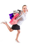 Happiness after shopping Stock Photography