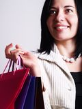 Happiness at shopping Royalty Free Stock Images