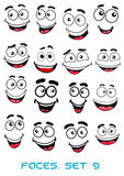 Happiness and smiling people faces Royalty Free Stock Photos