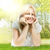 Happiness Smiling Woman Relaxing stock images