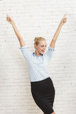 Happiness of successfull young businesswoman Stock Photography