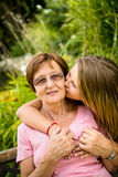 Happiness - together with grandchild Stock Images
