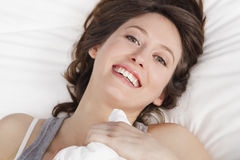 Happiness after waking up Stock Image