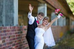 Happiness wedding couple Stock Photography