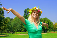 Happiness woman Royalty Free Stock Photos