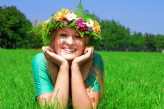 Happiness woman Royalty Free Stock Images