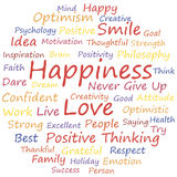 Happiness. Word cloud concept, a vector illustration Royalty Free Stock Image