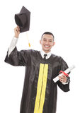 happiness of young graduated student Royalty Free Stock Images
