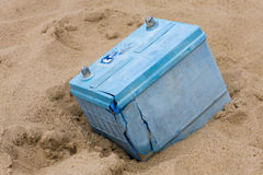 HAPPISBURGH, NORFOLK/UK - AUGUST 6 : Old lead acid battery  at H Stock Images