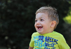 Happly little boy. Portrait with gorgeous little boy laughing Royalty Free Stock Photos