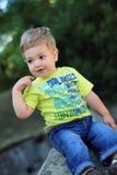 Happly weinig jongen Royalty-vrije Stock Foto