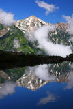 Mountain reflection in pond Royalty Free Stock Images