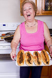 happpy κυρία πιό γηραιή υπερήφανα στοκ φωτογραφία με δικαίωμα ελεύθερης χρήσης