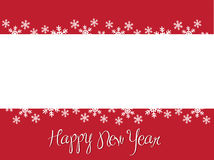 Happpy New Year. Red greeting card for New Year Stock Photo