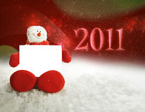 Happpy snowman 2011 Stock Photography