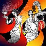 Happu Durga Puja festival India holiday background Stock Images
