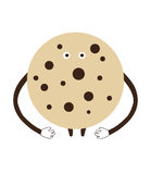 Happy сartoon сookie on a white background vector illustration Royalty Free Stock Photography