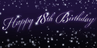Happy 18th Birthday Banner Royalty Free Stock Image