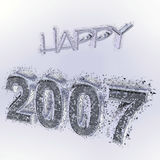Happy 2007. 3D rendered greeting for the next year Royalty Free Stock Photos