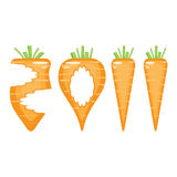 Happy 2011 year!. 2011, made of carrots and their scraps,  illustrations Stock Photo