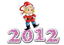 Happy 2012 Royalty Free Stock Photo