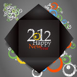 Happy 2012 card Royalty Free Stock Photography