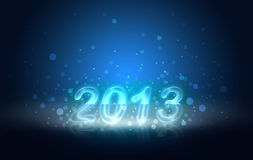 Happy 2013. 2013 written in shiny letters on a blue background Royalty Free Stock Images
