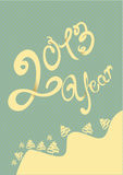 Happy 2013 year illustration. With blue background Vector Illustration