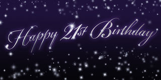Happy 21st Birthday Banner Stock Photos