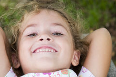 Happy. Little girl smiling Stock Photos