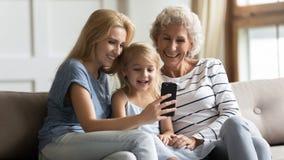 Free Happy 3 Generations Family Having Fun At Home. Stock Photo - 170460580