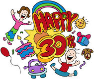 Happy 30th Stock Images