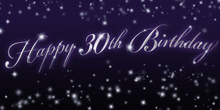 Happy 30th Birthday Banner Royalty Free Stock Photo