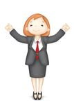 Happy 3d Business Woman in Vector. Illustration of 3d business woman in vector showing happy gesture Stock Images