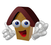 Happy 3d house mascot character Stock Photos