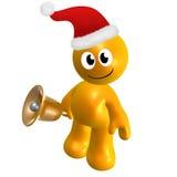 Happy 3d icon wearing Santa hat Royalty Free Stock Photos