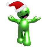 Happy 3d icon wearing Santa hat Royalty Free Stock Photo