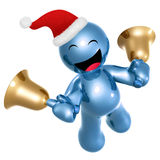 Happy 3d icon wearing Santa hat Royalty Free Stock Photography
