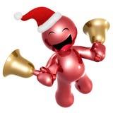 Happy 3d icon wearing Santa hat Stock Photos