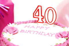 Happy 40th Birthday Stock Images