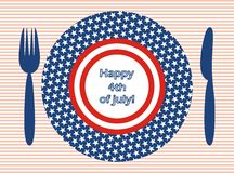 Happy 4th of july!. Drawn with a graphics tablet Stock Photos