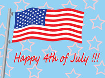 Happy 4th of July. Illustration Royalty Free Stock Photography